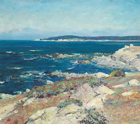 carmel seascape a blue sea carmel by guy rose