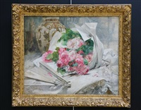 le bouquet de roses sur la table by georges jeannin