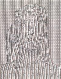 mädchenkopf aus häuserfronten by thomas bayrle