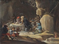 the temptation of saint anthony by abraham teniers