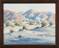 desert trees talk; desert landscape (2 works, with sketchbook) by darwin duncan