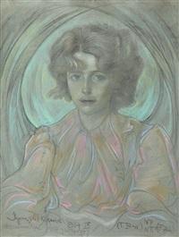 portret bronisławy włodarskiej - litauerowej by stanislaw ignacy witkiewicz