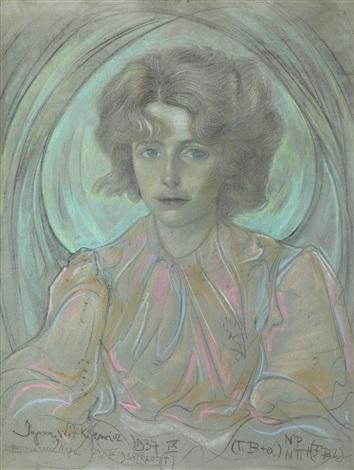portret bronisławy włodarskiej litauerowej by stanislaw ignacy witkiewicz