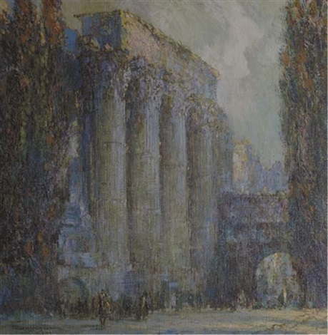 the temple of mars ultor rome by george wharton edwards