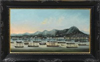hong kong harbor, victoria and the peak by youqua