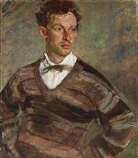portrait of a young man by julius paulsen