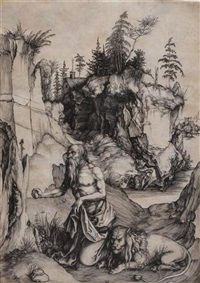 st. jerome in penitence by albrecht dürer