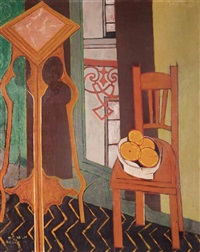 Still life with chair and table 1950 & Michael Argov | artnet