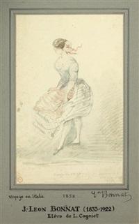 le coup de vent, souvenir de voyage by léon joseph florentin bonnat