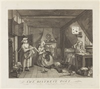 the distressed poet (der notleidende dichter) by william hogarth