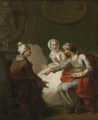 the doctor's visit, or the charlatan, also known as le marchand d'orviétan or l'opérateur barri by etienne jeaurat
