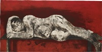 sleeper red (from sleeper series) by william kentridge