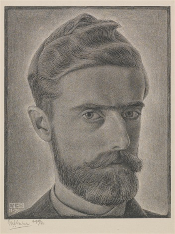 escher self portrait by m c escher