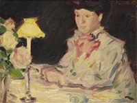 at the dinner table by john duncan fergusson