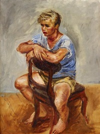boy seated in a chair by walter stuempfig