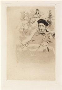 théodore de banville, tourné à gauche by édouard manet