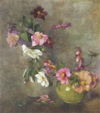 still life of dahlias by constance walton