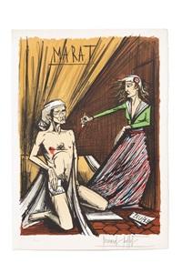 la mort de marat (from la révolution française) by bernard buffet