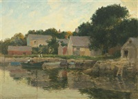 oyster cove, annisquam by paul cornoyer