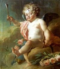 l'amour tenant un arc et une flèche by nicolas guy brenet