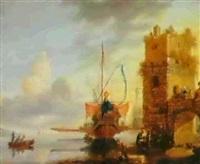 gallion dans le port de messine by bonaventura peeters the younger