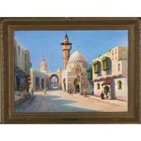 street in tunis (+ a gateway in tangier; 2 works) by robert herdman-smith