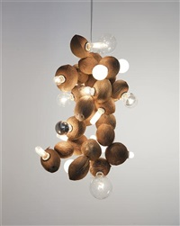 coconut chandelier (no.25) by kelley walker and wade guyton