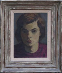 head of girl by moses soyer