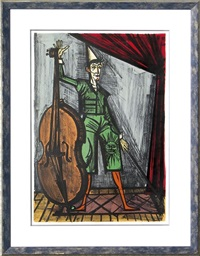 le clown violoncelliste by bernard buffet