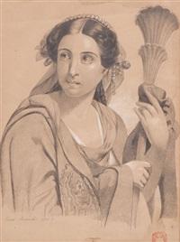 portrait of elena ananova in an italian costume by karl pavlovich bryullov