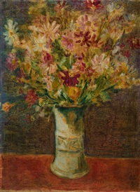 瓶花 (vase of flowers) by liao chi chun