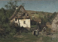 daily activities near a farm by wilhelm g. hasemann