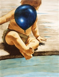 blue balloon by amalia haas