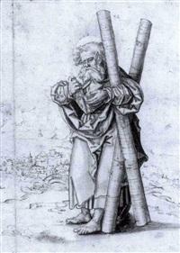 saint andré sur un fond de paysage by danube school (16)