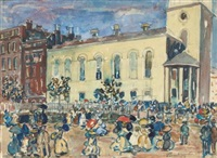 park street church, boston by maurice brazil prendergast