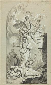 das martyrium und die himmelfahrt des heiligen sebastian by conrad geiger