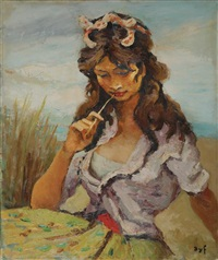 gitane songeuse, 1960 by marcel dyf