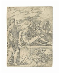 the entombment by parmigianino