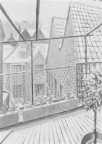 view through a window, winter by guy seymour warre malet