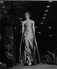 tournée de la chambre syndicale de la haute couture aux usa denise en givenchy lors du défilé chez neiman marcus by georgette de bruchard