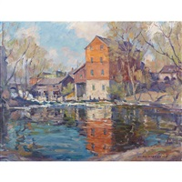 mill and pond by manly edward macdonald