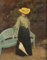 elégante à l'ombrelle by andré félix roberty