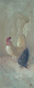 cockerels by lee man fong