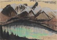 bergsee vor blauen gipfeln by käthe loewenthal