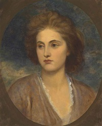 portrait of emma elizabeth brandling, later lady lilford by george frederick watts
