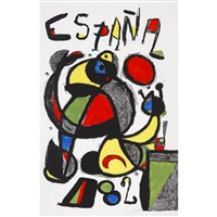copa del mundo de futbol-espana/the soccer world cup spain 1982 by joan miró