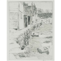 cos cob dock by childe hassam