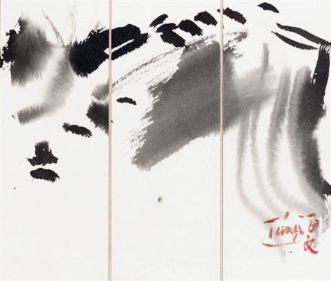 composition (on 3 joined sheets) by t'ang haywen