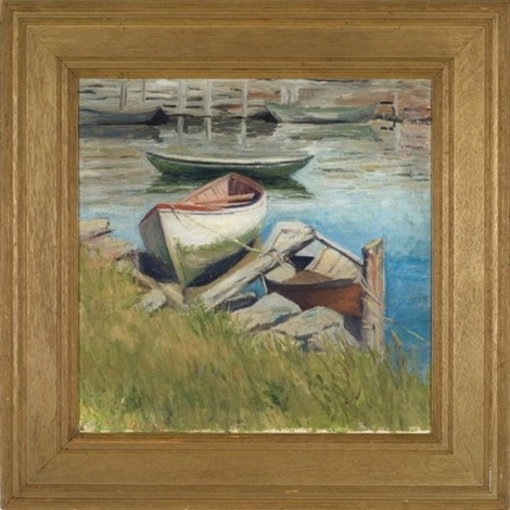 boats north shore by fern isabel coppedge