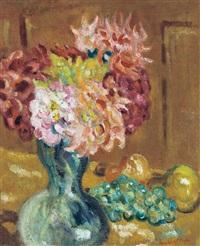 vase de chrysanthèmes, by louis valtat